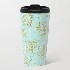 Gold Squid (Mint) Metal Travel Mug