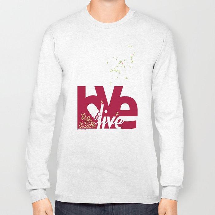 Love & Live (leaves 1) Long Sleeve T-shirt