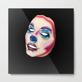 Clown Mask 2 Metal Print