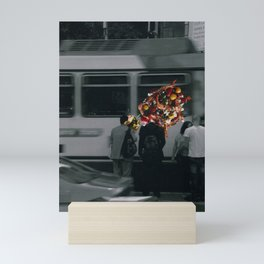 Street people collage series #5 Mini Art Print