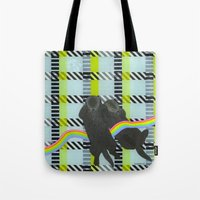 kozyndan Tote Bags featuring Date Night by kozyndan