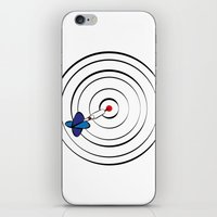 chicago bulls iPhone & iPod Skins featuring Bulls Eye by Nivedhna