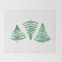 Fiordland Forest Ferns Throw Blanket