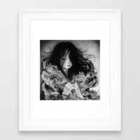 luna Framed Art Prints featuring Luna by May Ann Licudine
