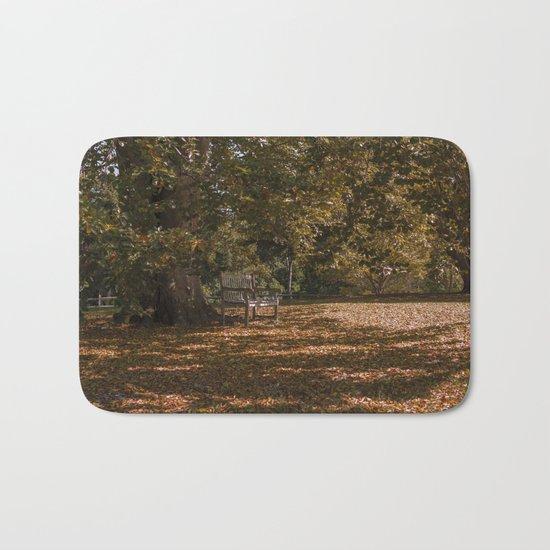 Autumn under the tree Bath Mat