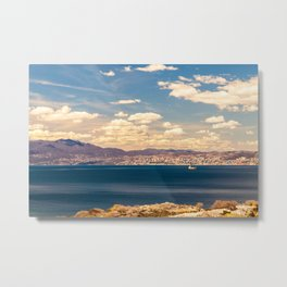 Sunny day view from Krk island to the gulf of Rijeka Metal Print