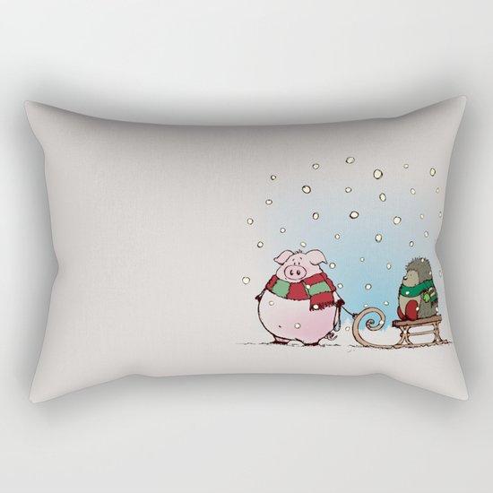 Winter fun Rectangular Pillow