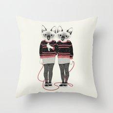 siamese twins Throw Pillow