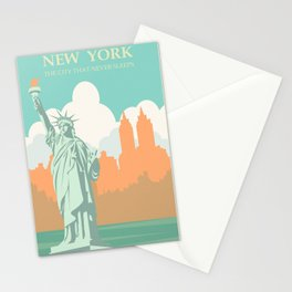 New York City Vintage Poster Stationery Cards