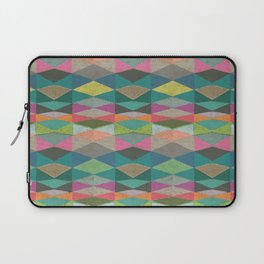 Colorblock Tribal Triangle Pattern Laptop Sleeve