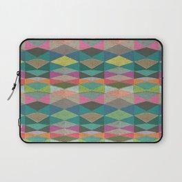 Colorblock Tribal Triangle Pattern Laptop Sleeve