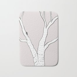 Birch Tree Illustration Bath Mat
