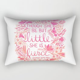Little & Fierce – Pink Ombré Rectangular Pillow