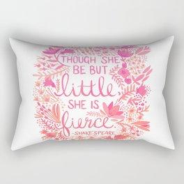 Little & Fierce – Pink Ombré Rectangular Pillow