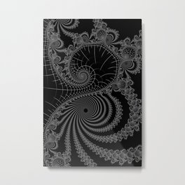 Peaks And Troughs 1 Inverted Metal Print