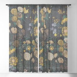 EXOTIC GARDEN - NIGHT II Sheer Curtain