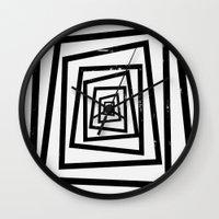 illusion Wall Clocks featuring Illusion by Janet Datu