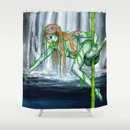 Pole Creatures - Water Nymph Shower Curtain