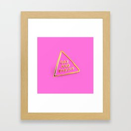 Gay And Boring Framed Art Print