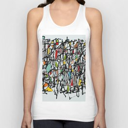 Abstract Composition 718 Unisex Tank Top