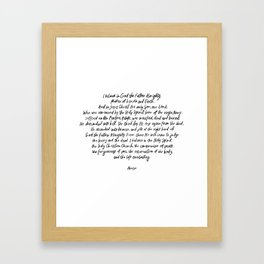 The Apostles' Creed Framed Art Print