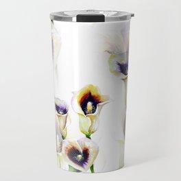 Seamless Watercolor Arum Calla Lilies Travel Mug