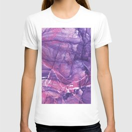 Smokey Ultra Violet and Pink Marble T-shirt