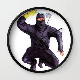 Bathroom Ninja Wall Clock