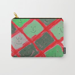 Cute pattern with smiling faces Carry-All Pouch