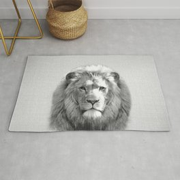 Lion - Black & White Rug