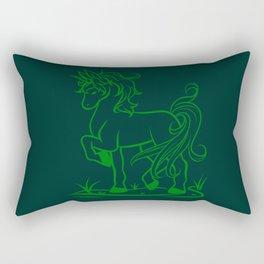 Minimal Unicorn Green Rectangular Pillow