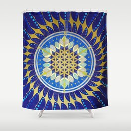The Seed of Life Shower Curtain