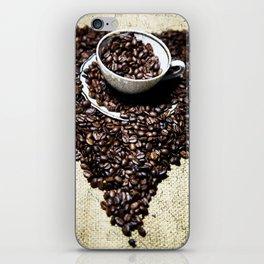 coffee art iPhone Skin