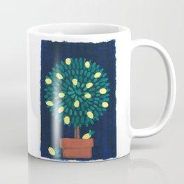 Lemon Topiary potted plant gouache painting design Coffee Mug