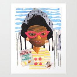 Shirley Chisholm - Badass Woman Portrait Art Print