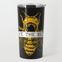 Save The Bees (Dark) Travel Mug