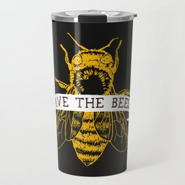 Save The Bees (Dark) Travel Mug