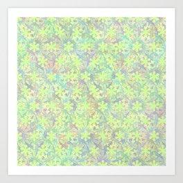 Dancing Rainbow Koi Art Print