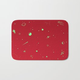 Outer Space Poster (Red) Bath Mat
