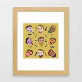 Beard Science. Framed Art Print