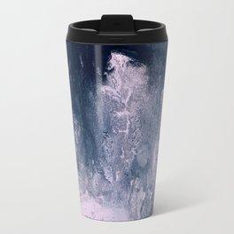 Pink & Dark Grey Abstract II Travel Mug