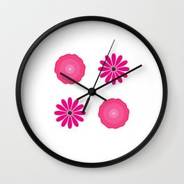 Bib Flower Pack Pink Wall Clock