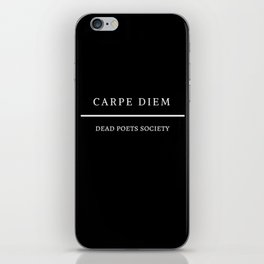 carpe diem: dead poets society iPhone Skin