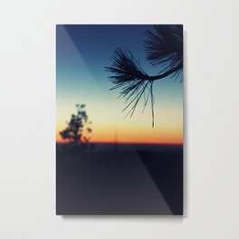 Nightfall in the Forest Metal Print