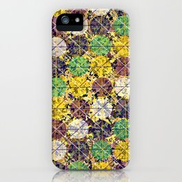 Pattern circles joined iPhone Case