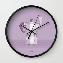 Coffee Maker Series - Moka Wall Clock