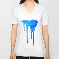 splatter V-neck T-shirts featuring Splatter by Hints Photos