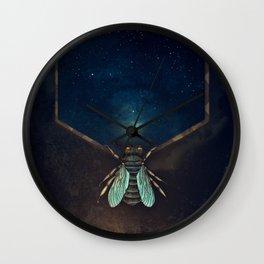 Bee Universe Wall Clock