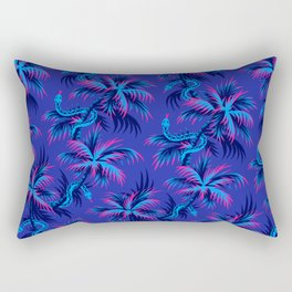 Snake Palms - Blue Pink Rectangular Pillow