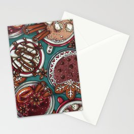 Christmas Cacao and Mulled Wine Stationery Cards